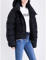 Unravel Quilted padded silk-habotai jacket