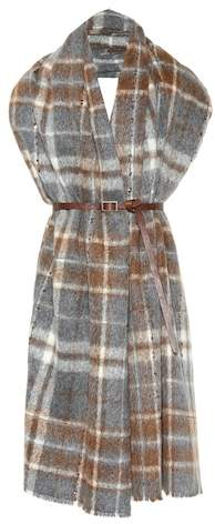Brunello Cucinelli Plaid alpaca and wool scarf