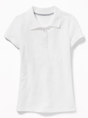 Old Navy Uniform Stain-Resistant Pique Polo for Girls