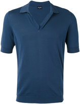Drumohr open neck polo shirt - men - Cotton - 46