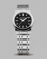 Women's Black Dial Check Bracelet Watch