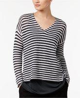 Eileen Fisher Organic Linen Striped Boxy Top