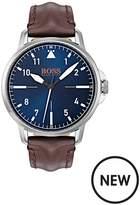 Hugo Boss Hugo Boss Orange Chicago Blue Dial Brown Leather Strap Mens Watch