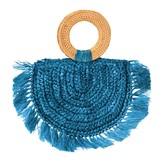 Brunna.Co Atta Warrior Raffia Straw Bag In Blue