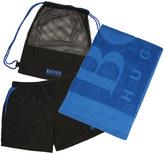 HUGO BOSS BOSS, Swim Shorts & Towel Beach Set in Open Blue 50311724 475
