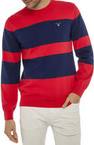 Gant Stretch Cotton Block Crew Knitwear
