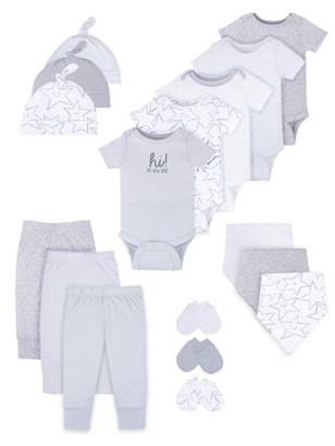 Little Star Organic Baby Boy or Girl Gender Neutral Newborn Clothes Shower Gift Set, 17pc