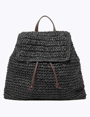 M&S CollectionMarks and Spencer Straw Backpack Bag