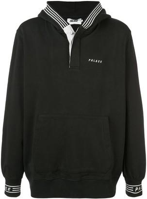Palace stripe trim hoodie