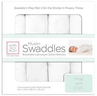 Swaddle Designs Muslin Blankets, Pure White