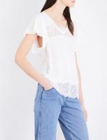 Claudie Pierlot Terrasse knitted linen T-shirt