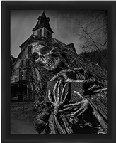 PTM Images Haunted House II Framed Print