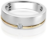 Effy Jewelry Effy Men's 14K White and Yellow Gold Diamond Ring, 0.15 TCW