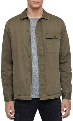 AllSaints Sherpa-Lined Regular Fit Shirt Jacket