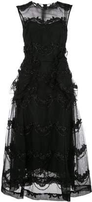 Simone Rocha bead embroidered sheer dress