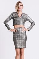 Karen Zambos Glitter Tube Skirt