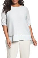 Eileen Fisher Plus Size Women's Organic Linen Crop Sweater