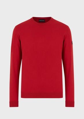 Emporio Armani Crew-Neck Sweater With Logo Tag