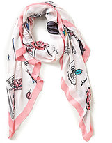 Kate Spade Travel Scrapbook Oblong Scarf