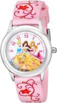 Disney Kids' W001803 Princesses Stainless Steel Time Teacher Watch