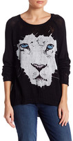 Lauren Moshi Animal Graphic Knit Pullover