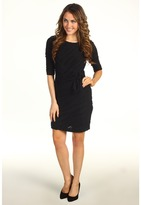 Donna Morgan Addison Side Tie Dress (Black) - Apparel