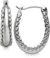 Nambe Braid Hoop Earrings in Sterling Silver