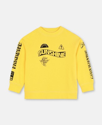 Stella Mccartney Kids Sunshine Oversize Cotton Sweatshirt, Men's