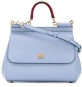 Light Blue Leather Handbag - ShopStyle
