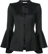 Alice + Olivia Alice+Olivia - flared sleeve high neck blazer - women - Polyester/Polyurethane/Spandex/Elastane/Wool - 0