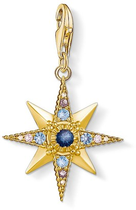 Thomas Sabo Women-Charm-Pendant Royalty Star Charm Club 925 Sterling silver Gold plated 1714-959-7