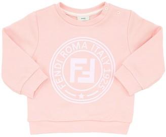 Fendi Logo Print Cotton Sweatshirt