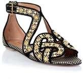Alaia Woven studded leather sandal