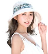 Siggi Womens Golf Hat with Neck Flap Summer Cotton Sunhat UV 50 Protection Beige