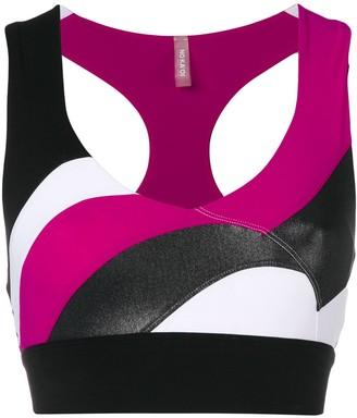 NO KA 'OI Colour Block Paneled Crop Top