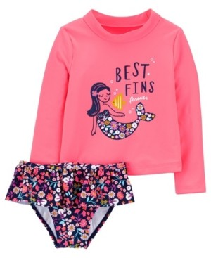 Carter's Baby Girl Mermaid Rashguard Set