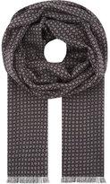 Lardini Printed wool scarf