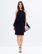 Wallis Ring Collar Overlayer Dress