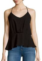 Collective Concepts Solid Lace-Trimmed Tank Top