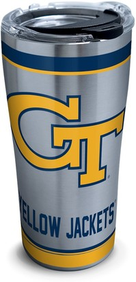 Tervis Georgia Tech Yellow Jackets Tradition Insulated Tumbler with Clear and Black Hammer Lid 20 oz Stainless Steel