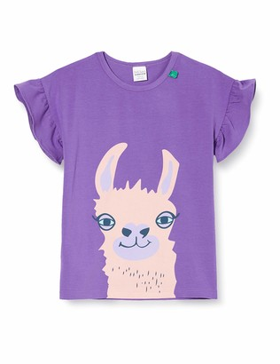 Fred's World by Green Cotton Girl's Lama S/s Front T T-Shirt