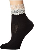 Bootights Floral Lace Cream Anklet Hose