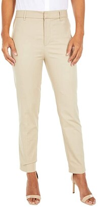Lauren Ralph Lauren Stretch Cotton Cropped Pants (Birch Tan) Women's Casual Pants