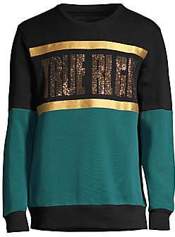 True Religion Men's Embellished Colorblock Sweatshirt