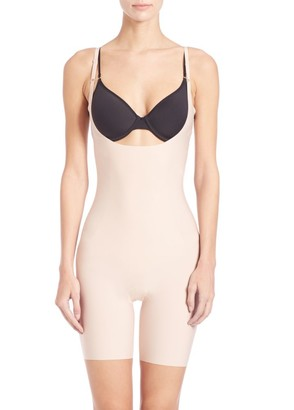 Spanx Thinstincts Open-Bust Mid-Thigh Bodysuit