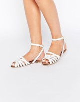 Asos FIFI Woven Leather Sandals