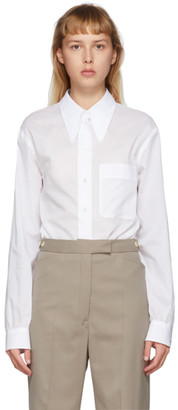 Lemaire White Pointed Collar Shirt