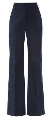 Gabriela Hearst Leda High-rise Cotton-blend Corduroy Trousers - Navy