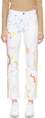 Collina Strada White Tie-Dye 5 Pocket Jeans