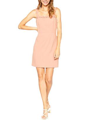 Sadie & Sage Linen-Blend Ruffled Dress